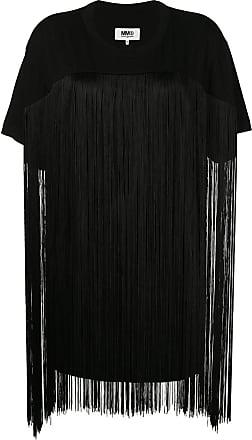 Noir Franges shirt T Détails Margiela Maison À De 0TaxFvq