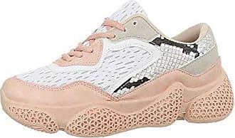 38 Beige Weiß Damenschuhe Gr Sneakers Synthetik Freizeitschuhe design Ital Low YwnqUxgzx6