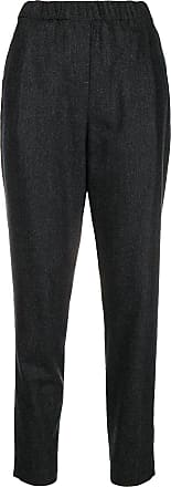 Elasticated Noir Filippi Tapered Fabiana Trousers Waistband 5C6XwxaqH