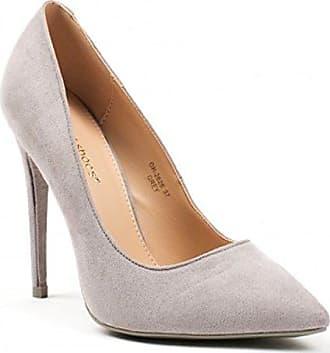 Of Schuhe Shoes Stilettos Damen High 26 King 60 Plateau Klassische Spitz 37 Heels Grau Pumps dI5Yz