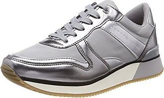 Sneaker Sneakers 42 light Eu Gris 004 Basses Metallic Femme Grey Hilfiger Tommy 6qwEtt