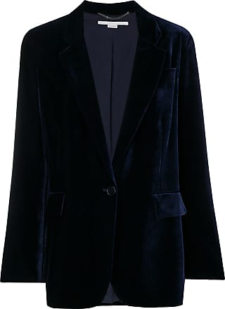 Blazer Mccartney Stella Bleu Velvet Button ZqddnCxO