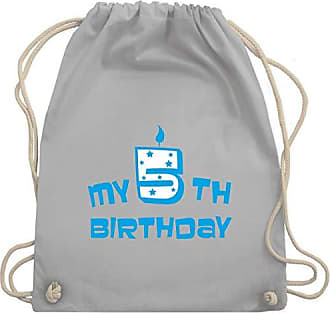 amp; Geburtstag Turnbeutel Bag Unisize Wm110 Kind Shirtracer Gym 5th Hellgrau Birthday My TpqTwzd