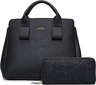 Schulter black Muster Handtasche Taschenbeutel Lychee Diagonales Chengxiaoxuan Mappe onesize Dame Paket N80wmn