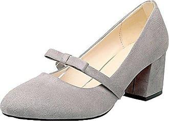 Rein Voguezone009 Pumps Mattglasbirne Damen Schuhe Grau Zehe 43 Absatz Mittler Quadratisch rSrqw4Y
