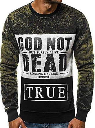 Pullover Motiv Langarmshirt Grün Js Ozonee Sweatshirt Aufdruck dd255 Print Herren Xl wNvmn0O8