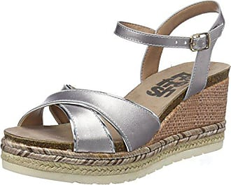 Bout 64087 37 Eu Argent silver Ouvert Sandales Refresh Femme qUAwHOEE