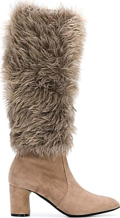 Boots Tons Under the Neutres Faux knee Casadei Fur W6xa7nB