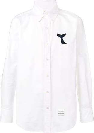 Met Staart Walvis Thom Browne Wit Oxford Shirt wFqq14t