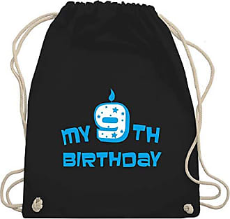 Bag Gym Geburtstag Wm110 KindMy Turnbeutelamp; Shirtracer 9th Birthday Schwarz Unisize MVUGLqSzp