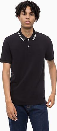 Aus piqué Fit Poloshirt Schwarz Slim Calvin Klein Baumwoll 0wkX8nPO