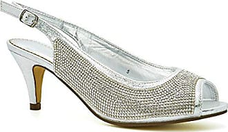Größe Damen Toes London 39 Silber Peep Footwear XHwf1z