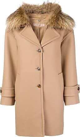 Twin Marron Single set Coat breasted Collar Fur 5wXRII