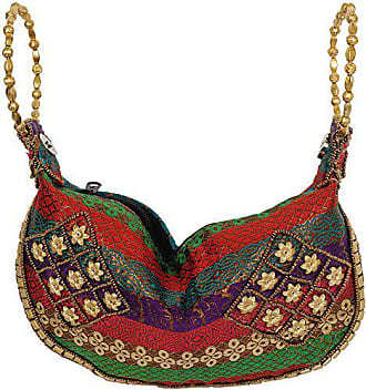 Bag By With HandArt Antique Silk Bracelet Embroidery India Brocaded Multi Exotic Color Rq4AjcL53