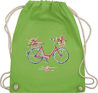 Wasserfarbe amp; Vintage Blumen Shirtracer Gym Unisize Turnbeutel Hellgrün Bag Fahrrad Wm110 EF6q6x8OW