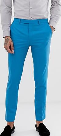 Intenso En Traje Tailor Azul Muy Twisted Pantalones Ajustados De qFwxp4