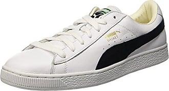 Bajas Classic Blanco Puma Cuero 12 Uk Zapatillas 47 Eu white Hombre Basket De black t5qxqnHw