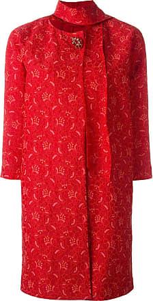 Coat Scervino Ermanno Lace Brooch Rood U6wqT
