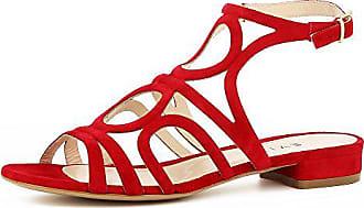 Salvina Evita 35 Damen Sandale Rauleder Rot Shoes 3K1JcTlF
