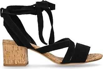 London Veloursleder Schwarze 39 sandaletten 36 Sacha 38 37 8xFwO1n