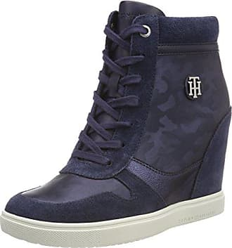 Tommy Metallic Sneakers 38 Dress Bleu Sneaker Eu 406 Femme Basses Hilfiger Camo Navy 6ww4U