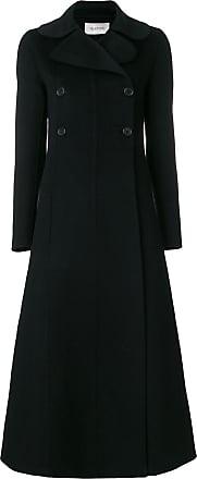 À Boutonnière Noir Croisée Manteau Valentino Évasée n41UwB0xq