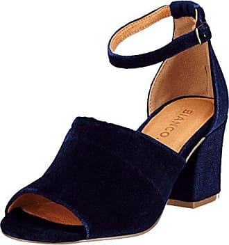 Bride Cheville Bleu 38 Samt 30 Eu Bianco Femme Party navy Boot Sandales WAqOwnpT