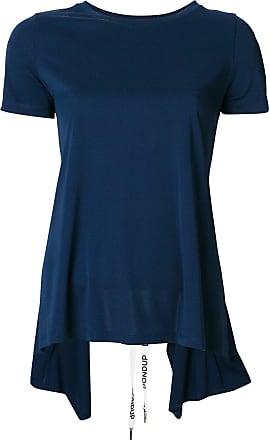 Bleu T À De Découpe shirt Détail Dondup Au Dos Zwq78dZ