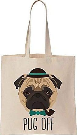 Pug Vintage Tote Dog Off Finest Canvas Bag Adorable Cotton Prints pHITIx5