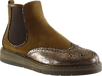 Bottine Coutures Surpiqûres Boots Chelsea Brillant Finition Angkorly dTYqd