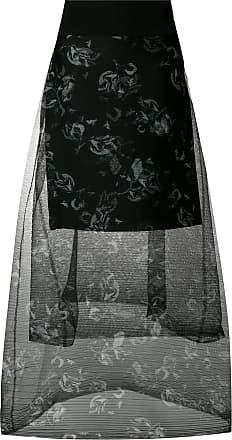Sheer Tiered Floral Noir Skirt Schumacher Printed Dorothee OwZxCqO