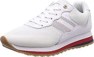Tommy 100 37 Zapatillas Blanco Mujer Para Sneaker Hilfiger Corporate Eu white Retro rzxw6Crqnf