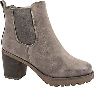 Elara zy9059 Ankle A Boots StiefeletteBequeme 39 Damen Chunkyrayan grau 29EDHI