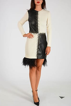 42 Leather With Puglisi Wool And Fausto Dress Feathers Inserts Size Mini XxHRWn