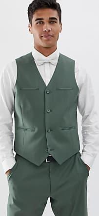 Verde Chaleco Traje Design Asos Corte Slim En De Salvia WYdnxqHn