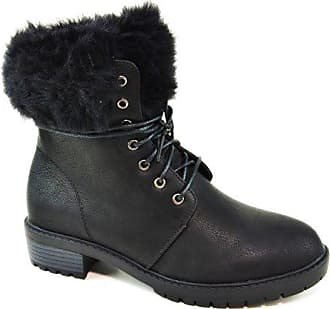 Worker Bequeme Outdoor Ankle Shoes Damen Halbschaft 40 Stiefel Knöchelhohe Schnürboots Q97 Blockabsatz Stiefeletten Of King Schwarz 0EwqHnxXR