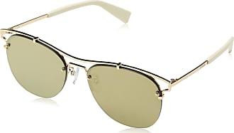 única Eyewear Sfu106 de mujer para talla Gafas brillante Furla sol oro rosa qPUt6