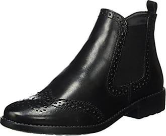Femme 36 Leather Chelsea Eu Noir Tamaris Bottes black 25493 p0avR0fSt