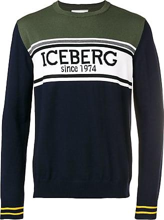 Colore Color Di Verde Iceberg Design Block Maglione Con 1wAPHP