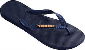 blau Damen Für Logo Schwarz Sandalen Havaianas Slim xq1YFwP8