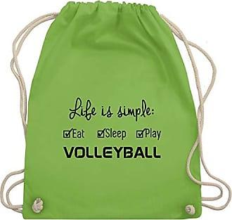 Wm110 Shirtracer Turnbeutel Hellgrün Gym Unisize Volleyball Simple Life Is Bag amp; nYxfPUrYw
