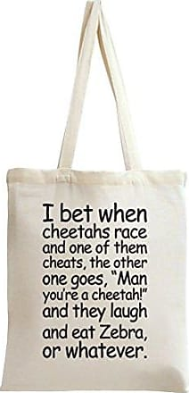 I Bag Bet Styleart Slogan When Race Cheetahs Tote PdWCwFq