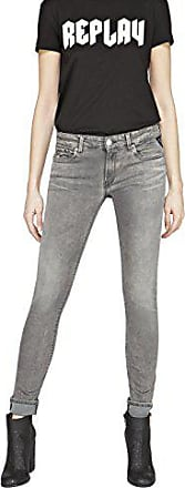 Para Jeans Mujer Replay grey Gris Denim W29 9 l32 Luz Ajustados qg1xxw5t