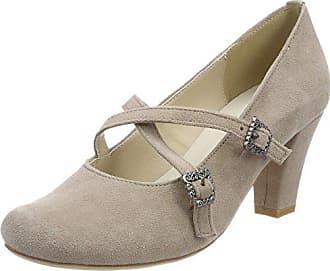 Mujer Hirschkogel 066 3004511 Con De Zapatos Para Eu 41 Cerrada Tacón Punta Beige taupe C8wqH1C6