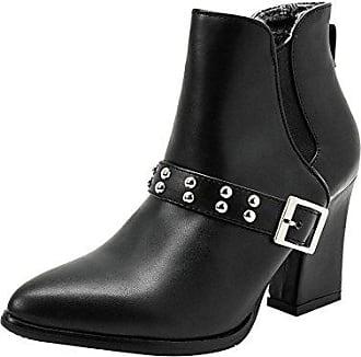 Heels High Boots34Schwarz Kurzschaft Shoes Mee Simple Damen Ankle kw80POnX