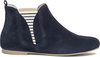 Velours Bleu En Ippon Cuir Chelsea Vintage Marine Boots éram QdCrtsh