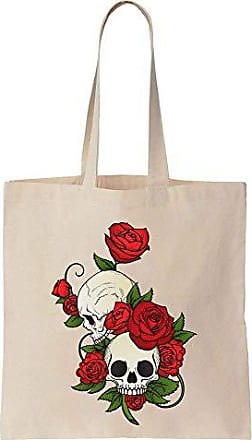 Skulls Bag Of Roses Bunch Two With Finest Tote Cotton Prints Canvas qYxvXvE