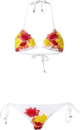 Amir Triangelige Versierde Bikini Slama Set Wit 11wqY