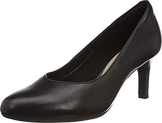 Nolin De Mujer Eu Dancer 41 Zapatos black Clarks 5 Leather Tacón Negro wH51qxC