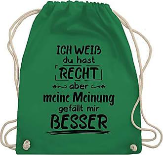 Turnbeutel Wm110 Mir Meine Gefällt amp; Shirtracer Bag Gym Sprüche Meinung Besser Unisize Grün gqzWFAn